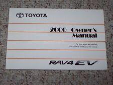 2000 Toyota Rav4 Rav 4 EV Electric Vehicle Owners Owner's User Manual Book