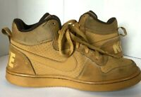 Nike Youth Size 5.5 Y Court Borough Mid GS Wheat Brown Sneakers Shoes 839977 700