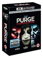 The Purge: 3 Movie Collection [Ultra HD (UHD) (4K) Blu-Ray + UV] (NEW)