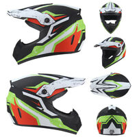 Motorcross Dirt Bike Off Road Motorcycle Helmet Racing Full Face XL Matte Black