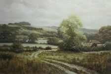 David Dipnall, Farm Beneath the Downs - Traditional Landscape - Rare Print