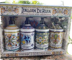 Combo Set 4, Italian Deruta Hand Soap Collection, 21.5 fl oz Each