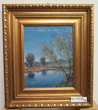 Landschaft IN Stil Impressionist Bild Antike Malerei Öl Signiert Frankreich R96