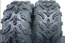 TWO REAR HONDA RECON 250 ATV DEEP MUD TIRES SWAMP LITE ATV REPLACES 22x10-9