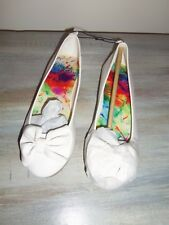 Nwot Faded Glory White Man Made Material Ballerina Flats: Size 4