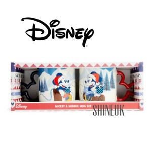 Primark Disney Mickey-Minnie Mouse Christmas Set Of Ceramic MUGS Gift Boxed NEW