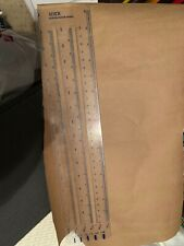 """Xerox Design Ruler 15"""" 6 In 1 Measurements"""