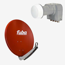 Fuba Sat Anlage Spiegel DAA850 R Rot 85cm Ø +DEK416 für 4 Teilnehmer/Anschlüsse