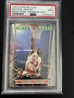 Michael Jordan 1992 Stadium Club Beam Team Members Only PSA 9 Chicago Bulls