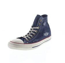 Scarpe da donna blu marca Converse piatto ( meno di 1,3 cm )