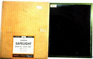 """40. Johnson Darkroom Safelight Filter - 8""""x10"""" -  Series 6/2  Dark Red"""