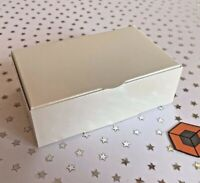 Premium Wedding - Ivory or White - Single Party Cake Slice Boxes -  105x65x35mm