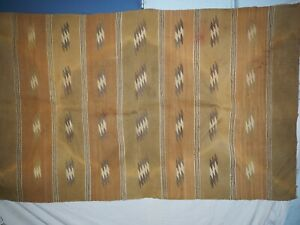 """Vintage Navajo Chinle Serrated Line Woven Rug 37"""" x 62"""""""