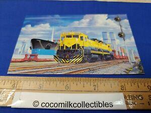 Postcard 1991 NY Susquehanna & Western Railway 4008 World Trade Center In View