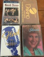 Lot Of 4 Praise Cassette Tapes Gaither, Sandi Patti, Acappella Project, DayWind