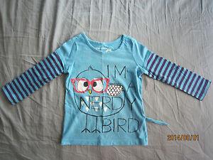 Sprockets Girl Long Sleeves Round Neck Blue T-Shirt (4yo) 1pcs