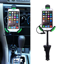 Universal Car Mount Holder W/ 3.1 Amp USB Car Charger Cradle and FM transmitter