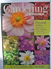 Gardening Which? Magazine. March 1997. Perennial Review. Agapanthus, asters, ane