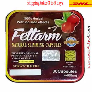 Fettarm German 30 Capsules Slimming Packet 2018 Concentrate 400 mg Free Shippng