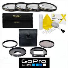 CLOSE-UP MACRO LENS KIT + UV/CPL 5pc FILTER KIT FOR GOPRO HERO4 SILVER & BLACK
