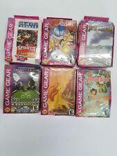 6 NEW Sega Game Gear Games W/Crushed Boxes Aladdin,battle,Lion,Jungle,Sports,Cae