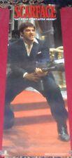 Scarface Poster 21x62 NEW Reproduction Scorpio Door Poster Machine Gun Al Pacino