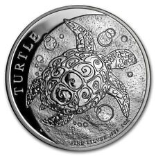 2018 New Zealand Mint $2 Niue Hawksbill Turtle Taku 1 oz .999 Silver Coin