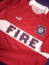 Rare Puma Chicago Fire soccer jersey shirt Vintage MLS Med Blanco Schweinsteiger