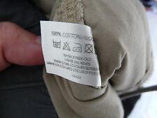 Mens 100% cotton Beige Cargo Trousers from Denim Co - Medium