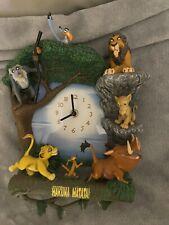 More details for the bradford exchange disney lion king hakuna matata wall clock
