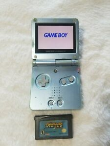 Nintendo Gameboy Advance SP Pearl Blue AGS-101 Fort parts or Repairs - Read
