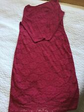 Stylish fitted long sleeve red lace dress 16 (12/14) BNWT Occasion/Party/Wedding