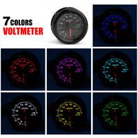 2'' 52mm Auto Car Voltage Gauge Electronic Volt Meter 8-18V LED Racing Voltmeter