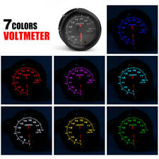 2'' 52mm Auto Car Voltage Gauge Electronic Volt Meter 8-18V LED Racing Voltmeter