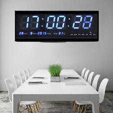 LED Wanduhr Digital Uhr mit Datum Temperatur 2 Modus Haus Büro Deko Blau 2kg SG