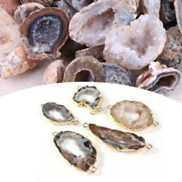 1PC Geodes Agate Natural Crystals Rocks Stone Druzy Quartz Pendant Jewelry Craft