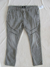PRPS Skinny Jeans -Moto Style w/Zipper Details -Cool Grey -Size 40 -NWT $248