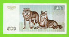 Lithuania 500 Talonu 1993 Unc Two Wolf 179