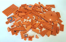LEGO Orange Bricks Mixed Bulk Lot 100+ Pieces GOOD VARIETY Parts Plates Dish