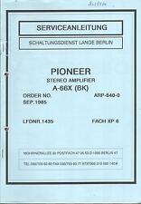 Pioneer  Service Manual für A- 66 X