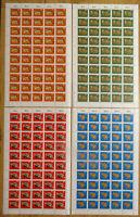 Bund 549 - 552 postfrisch Bogen BRD Tiere 1968 Michel 175 € LUXUS unbeschriftet