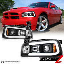 06-10 Dodge Charger [Tron Style] C-Shape LED Neon Tube Black Projector Headlight