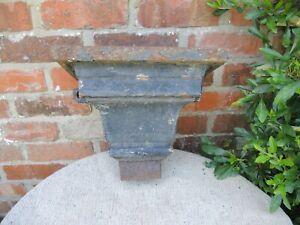 "Antique  Cast Iron  Rain Hopper  Garden Planter Wall Planter  11"" high (726)"