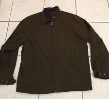Ralph Lauren Polo Green Jacket Plaid Lined Windbreaker L Large Men Bi Swing Zip