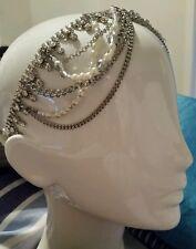 💕💕💕New MIMCO HARLEQUIN CHAIN Headpiece Fascinator headband COLLAR CHOKER 💟💟