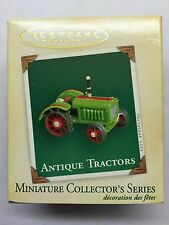 "Hallmark Keepsake Miniature Ornament ""Antique Tractors"" Mib 2004 Collector's"