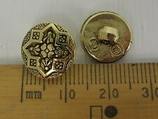 10 Gold metal look plastic Buttons shank Flower Star Design 12.5mm Ref R1129B828
