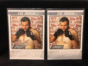 2009 UFC The Ultimate Fighter Zak Jensen TUF-ZJ Autograph # 11/20