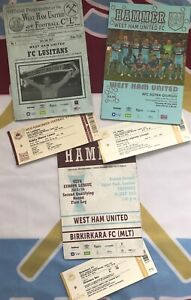 WEST HAM UNITED - ALL EUROPA LEAGUE - PROGRAMME & TICKETS - FREE P&P - RARE AS