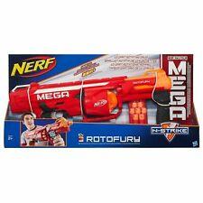 Nerf N-Strike Mega Series RotoFury Blaster 10 Shot Whistler Dart Rapid Fire Gun